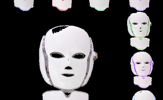máscara led con cuello sin fondo